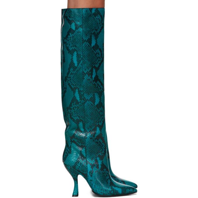 Photo: Dries Van Noten Blue Snake Tall Boots