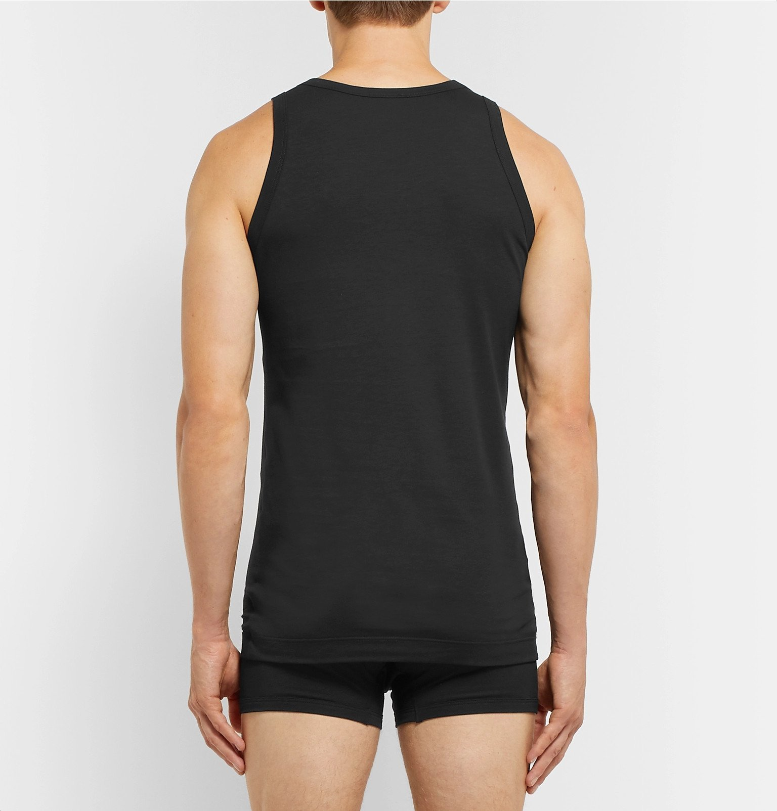 Dolce & Gabbana - Slim-Fit Stretch-Cotton Jersey Tank Top - Black