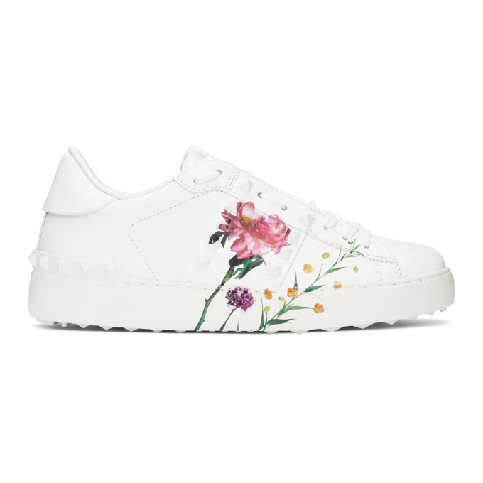 Photo: Valentino White Valentino Garavani Inez and Vinoodh Edition Flower Rockstud Untitled Sneakers