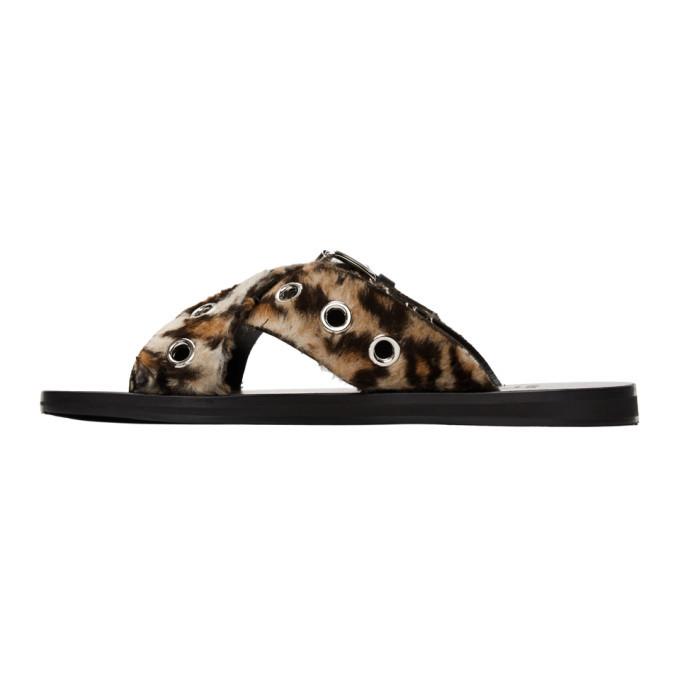 Versace Brown Leopard Sandals