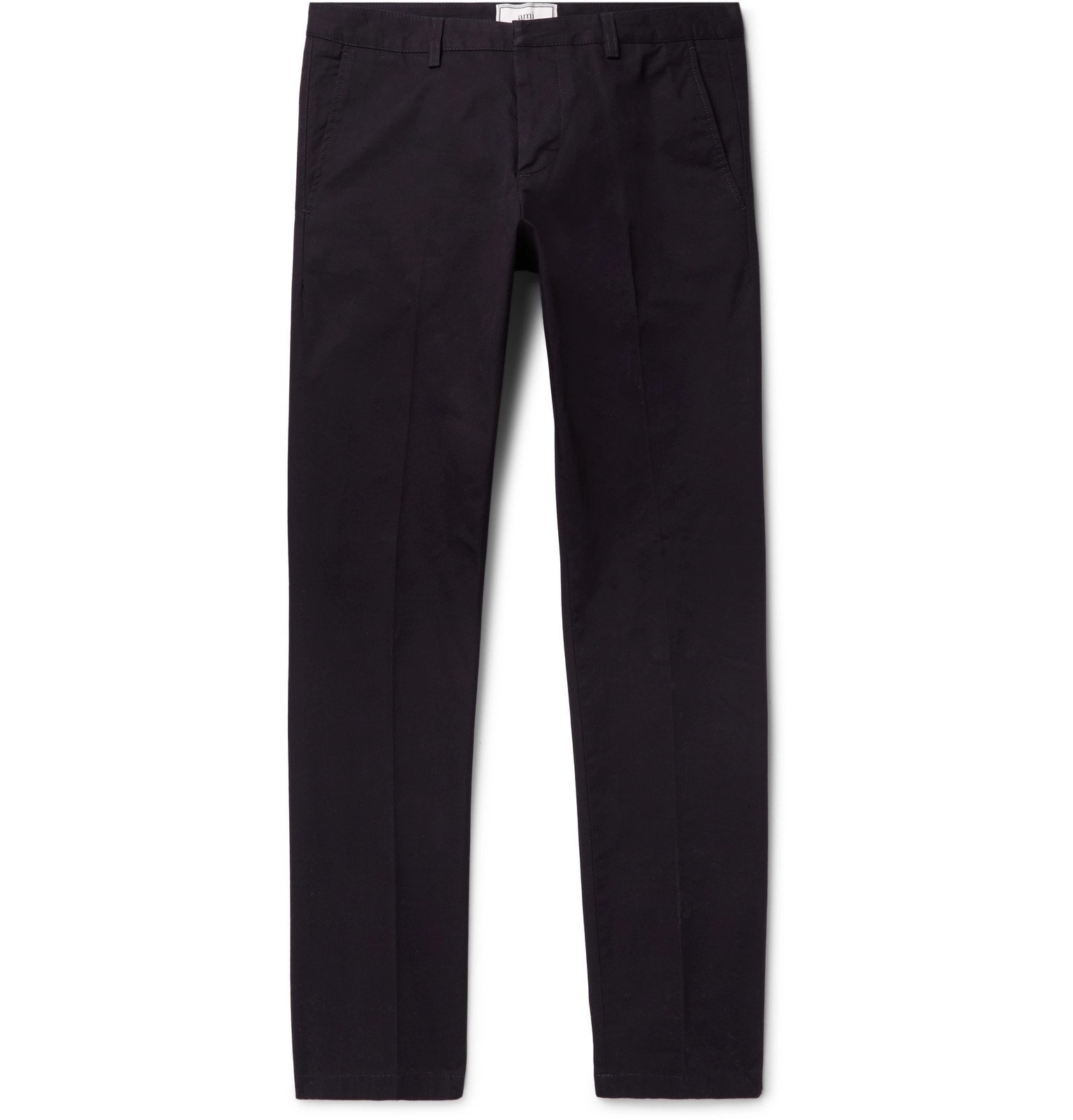 Photo: AMI - Slim-Fit Cotton-Twill Chinos - Blue