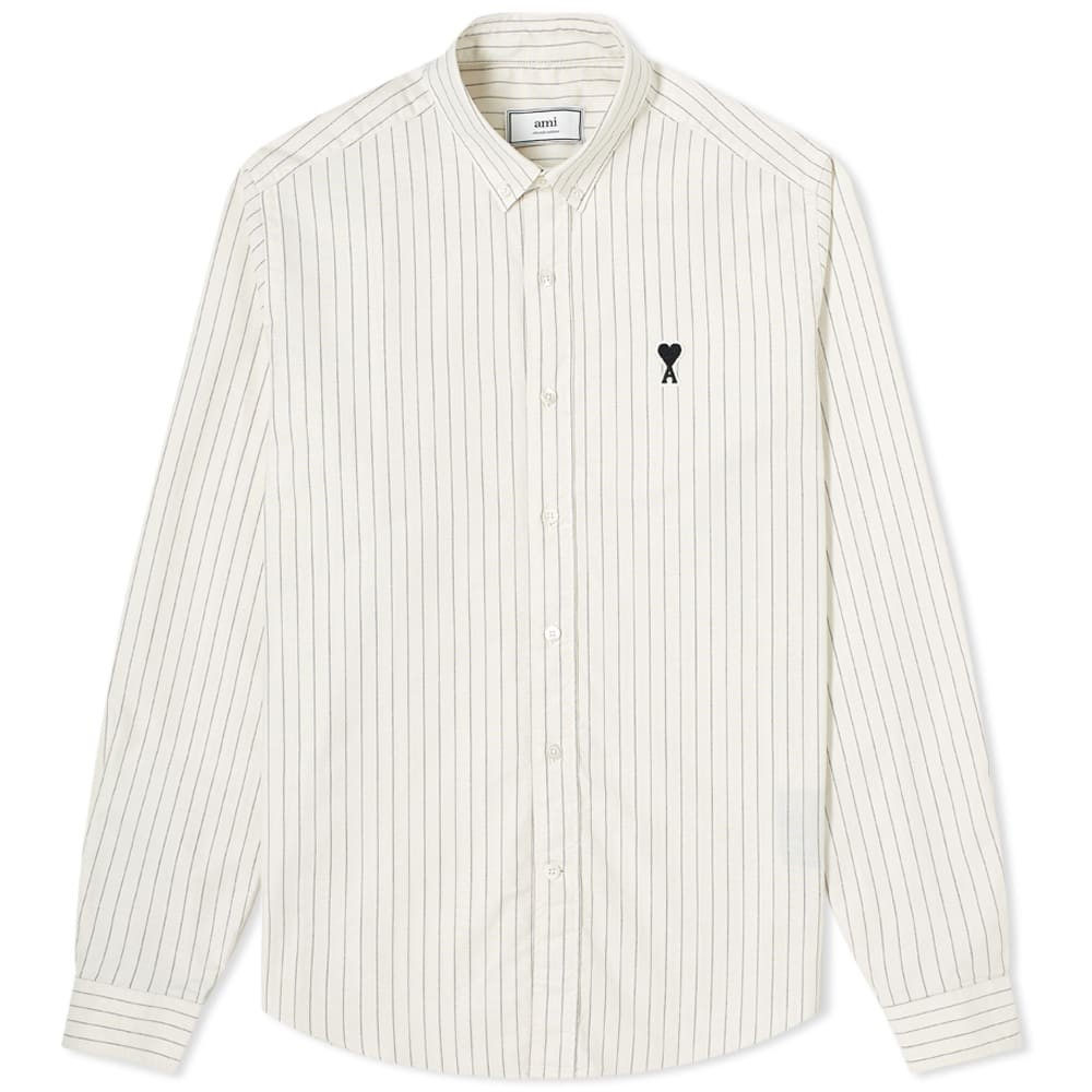 Photo: AMI Button Down A Heart Stripe Shirt