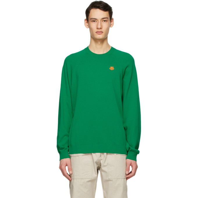 Photo: Kenzo Green Oversized Tiger Crest Sweater