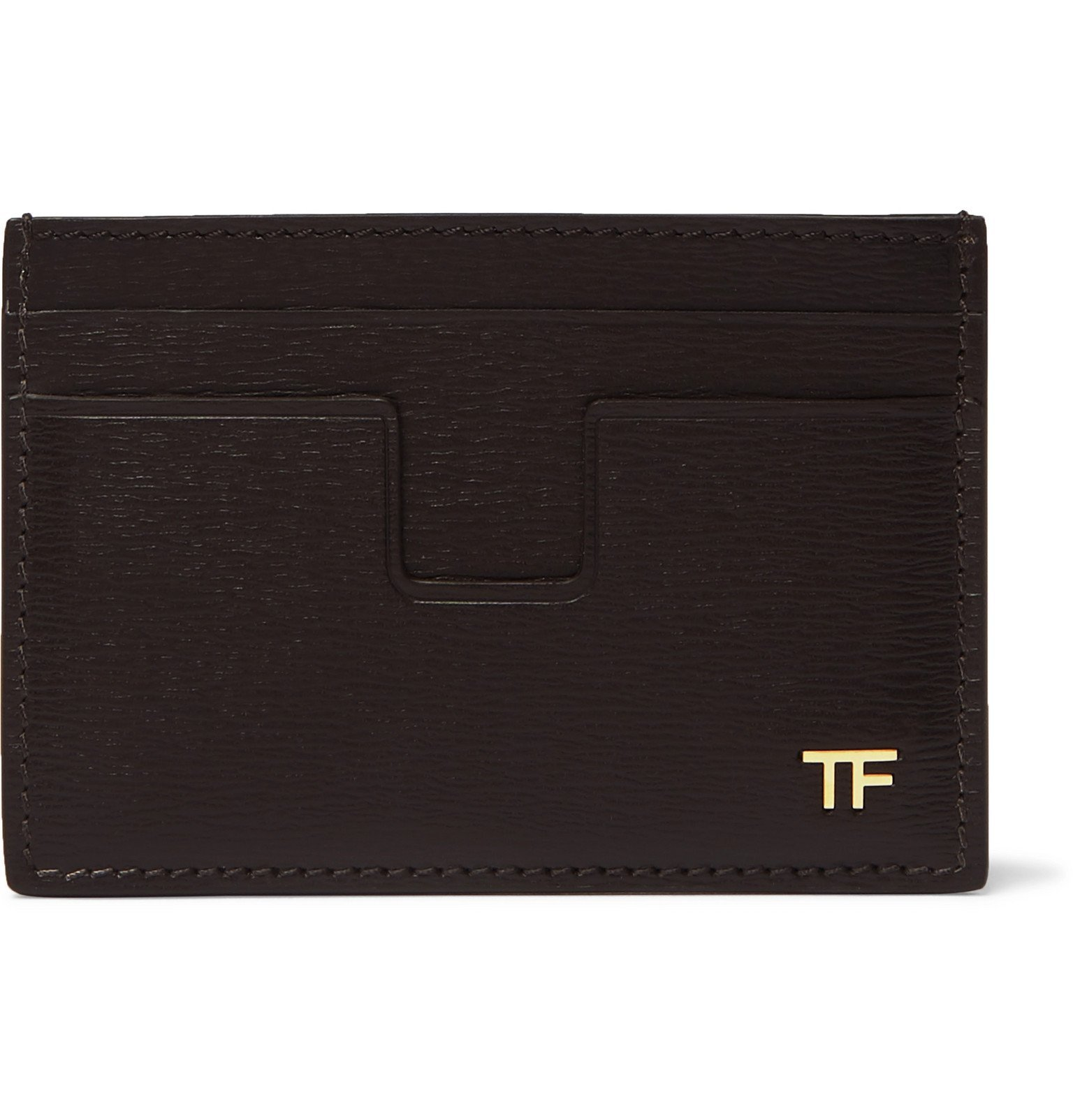 Photo: TOM FORD - Textured-Leather Cardholder - Brown