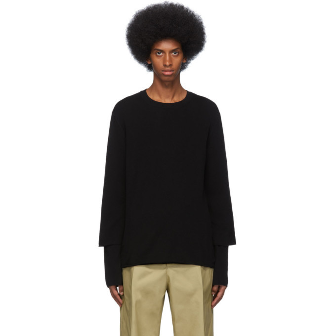 Photo: Comme des Garcons Shirt Black Gauge 12 Layered Sweater