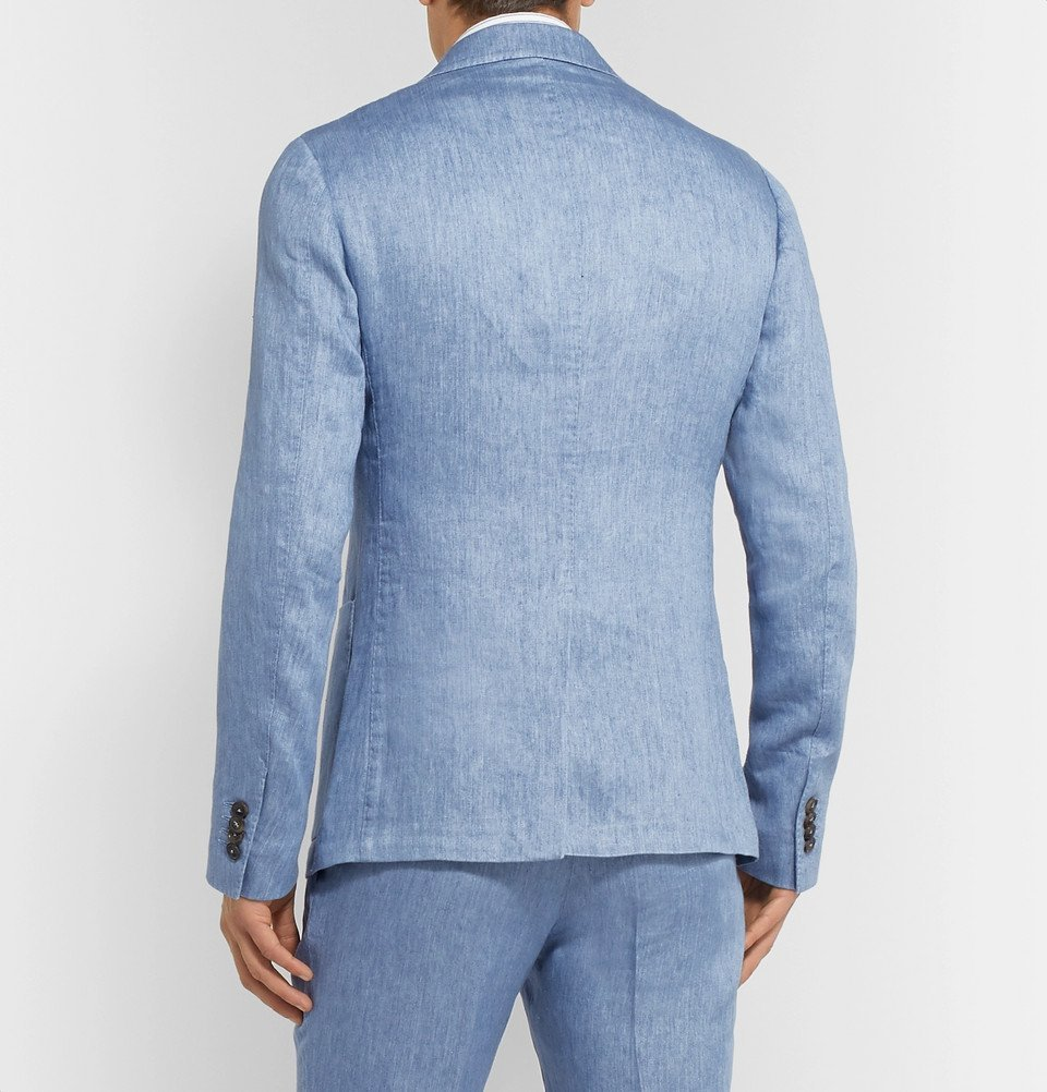 Tod's - Light Blue Linen Suit Jacket - Blue