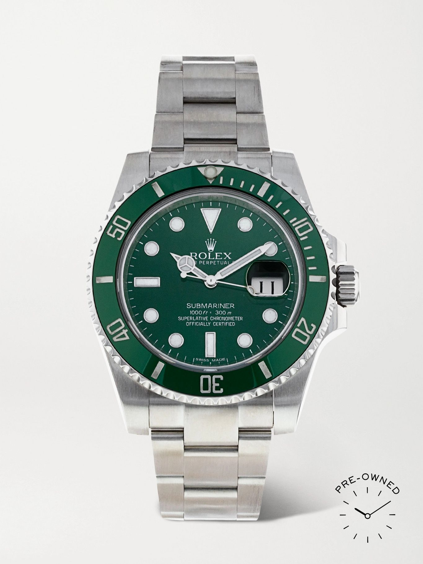 Photo: ROLEX - Pre-Owned 2015 Submariner Automatic 40mm Oystersteel Watch, Ref. No. 116610LV
