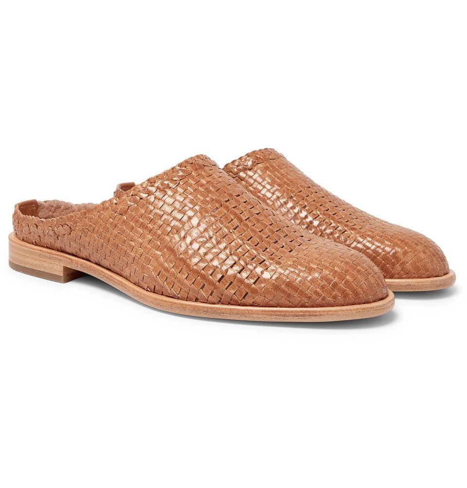 Photo: Hender Scheme - Woven Leather Loafers - Tan