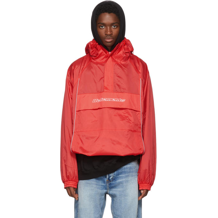 Photo: Vetements Red Overhead Half-Zip Jacket