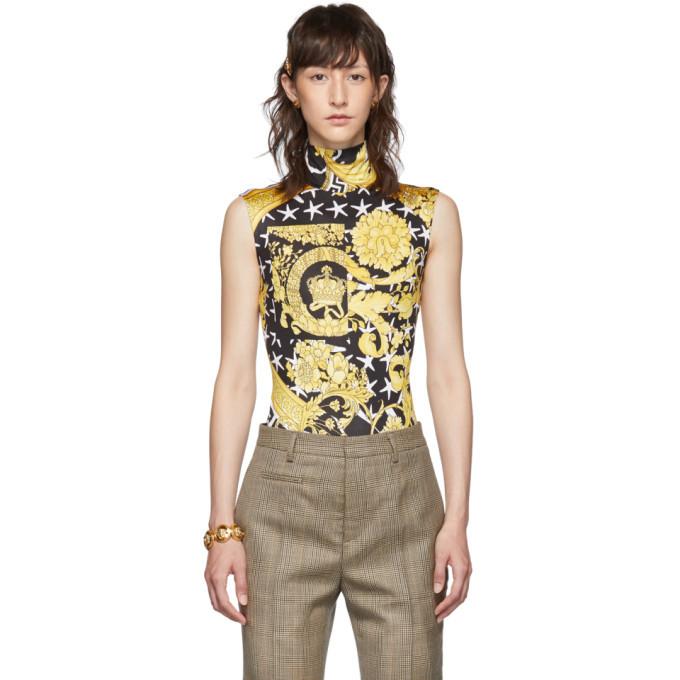 Photo: Versace Black and Yellow Savage Barocco Bodysuit