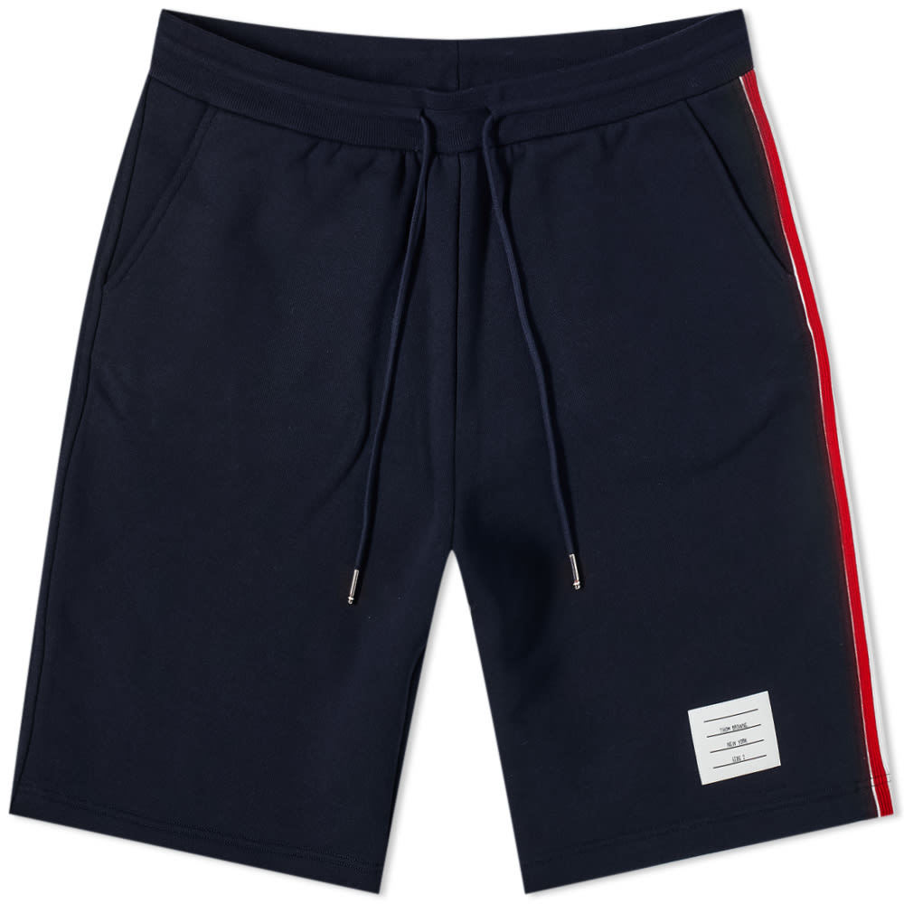 Photo: Thom Browne Tricolour Stripe Sweat Shorts
