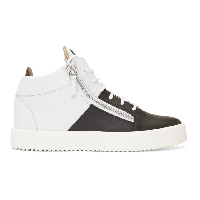Photo: Giuseppe Zanotti Black and White Double May London High-Top Sneakers
