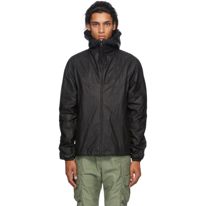 Photo: John Elliott Black Leather Adapt Anorak