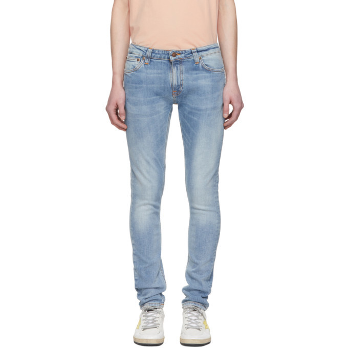 Photo: Nudie Jeans Blue Skinny Lin Jeans