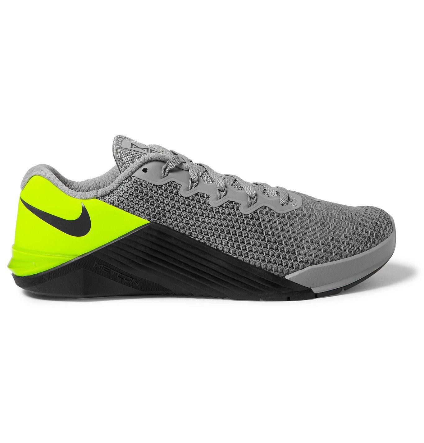 Photo: Nike Training - Metcon 5 Rubber-Trimmed Mesh Sneakers - Gray