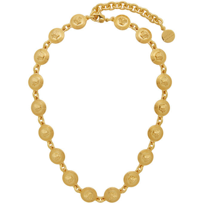 Photo: Versace Gold Tribute Coin Necklace