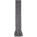 Acne Studios Grey and Purple Tassel Scarf