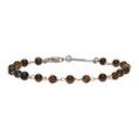 Giorgio Armani Brown and Silver Bead Bracelet