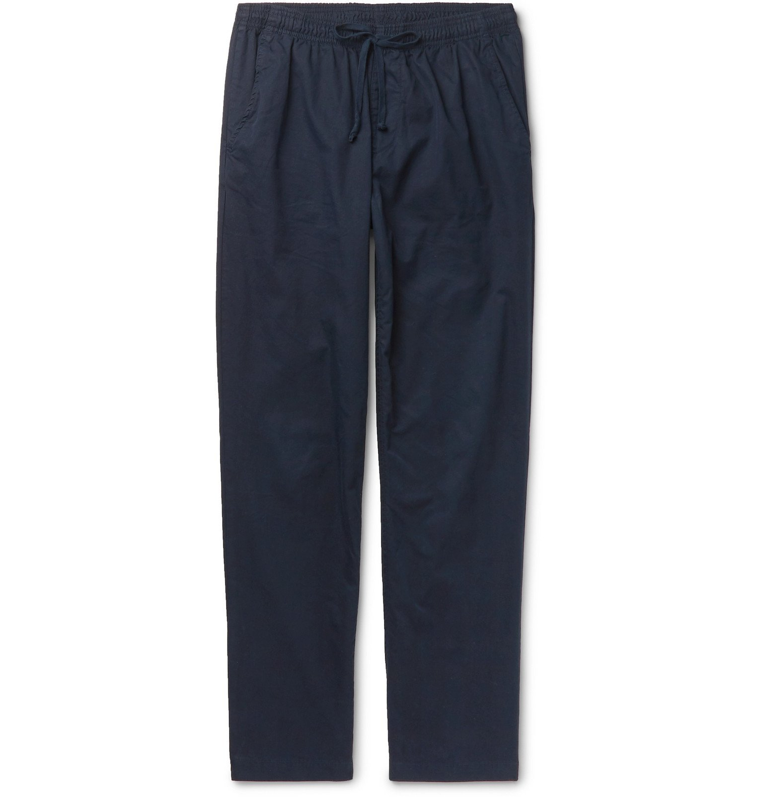 Photo: Save Khaki United - Easy Slim-Fit Cotton-Twill Drawstring Chinos - Blue