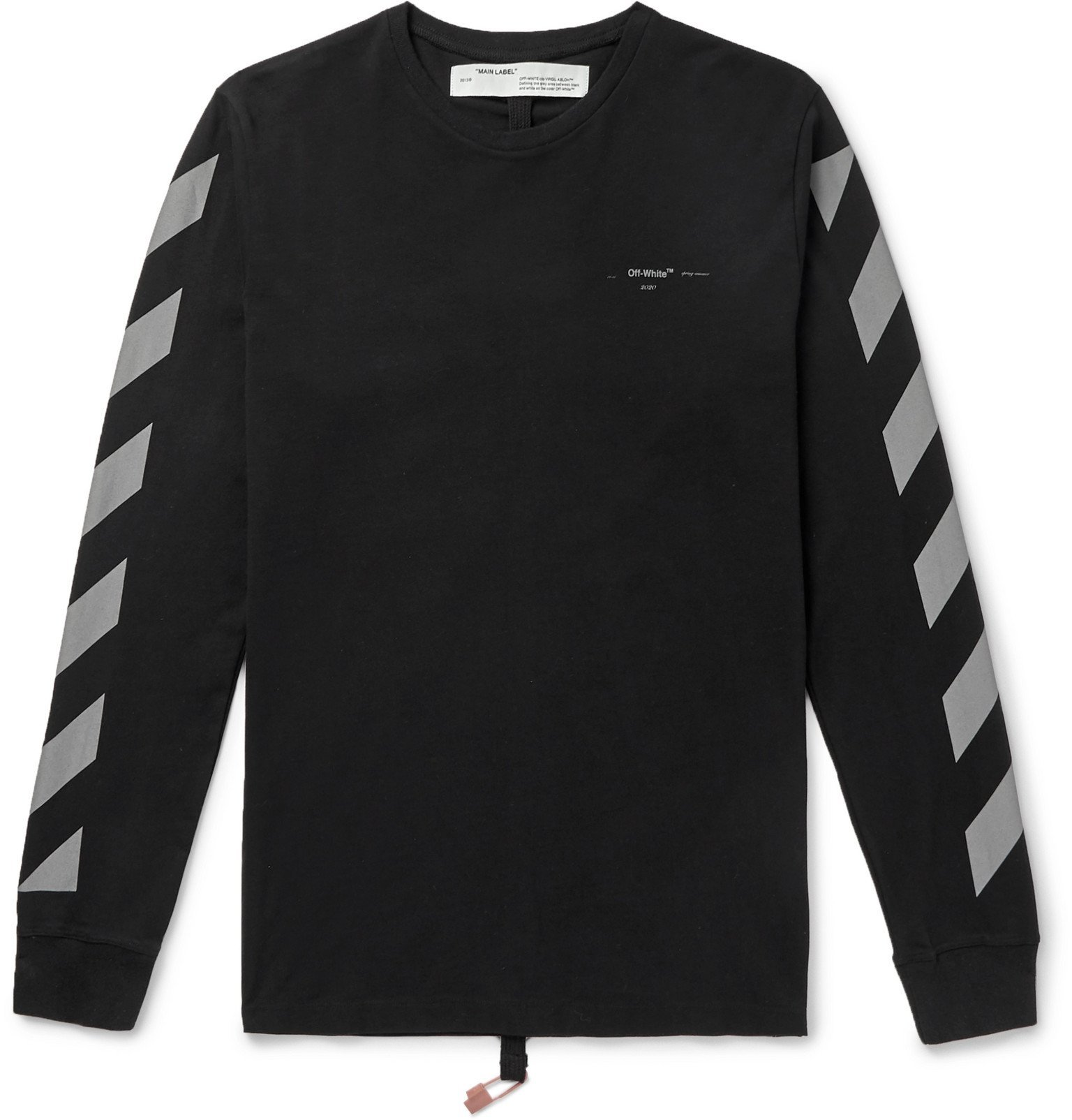 Photo: Off-White - Glow-In-The-Dark Printed Cotton-Jersey T-Shirt - Black