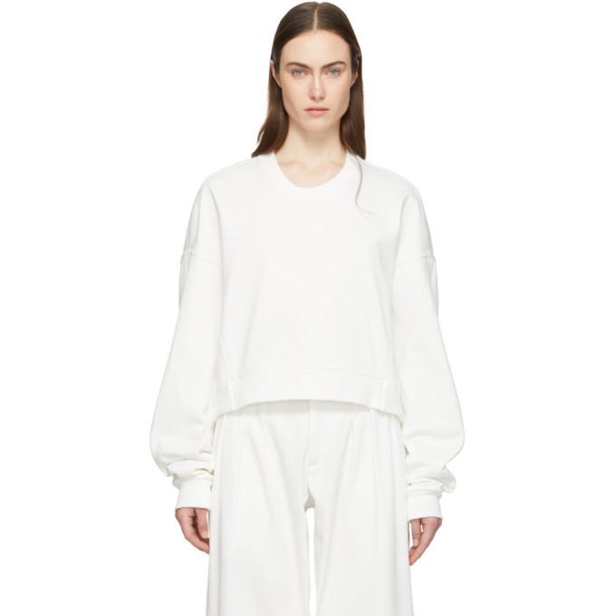 Photo: Y-3 White Yohji Love Sweatshirt