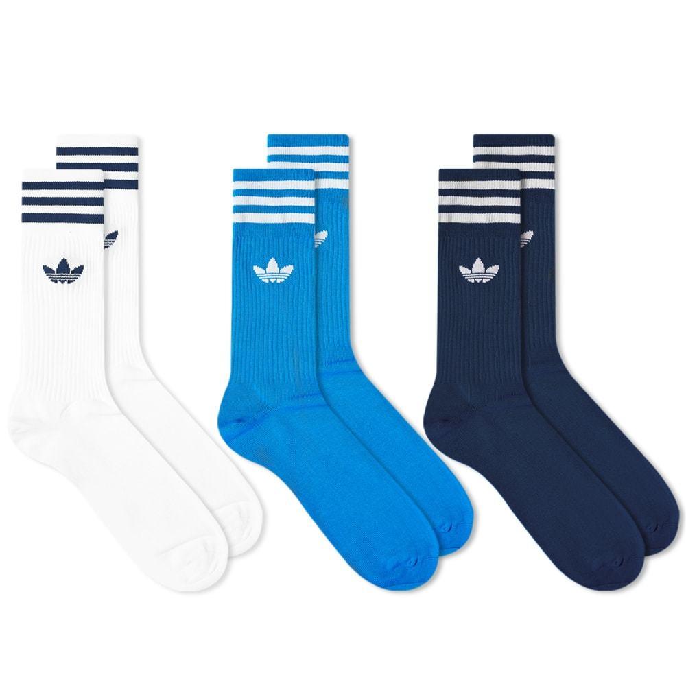 Photo: Adidas Solid Crew Socks - 3 Pack