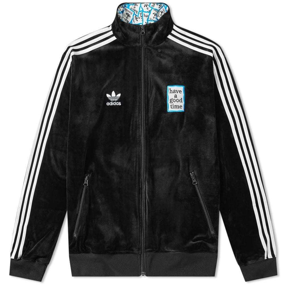 Photo: Adidas x Have A Good Time Velour Track Top Black