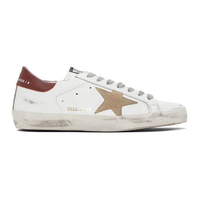 Photo: Golden Goose White and Red Superstar Sneakers