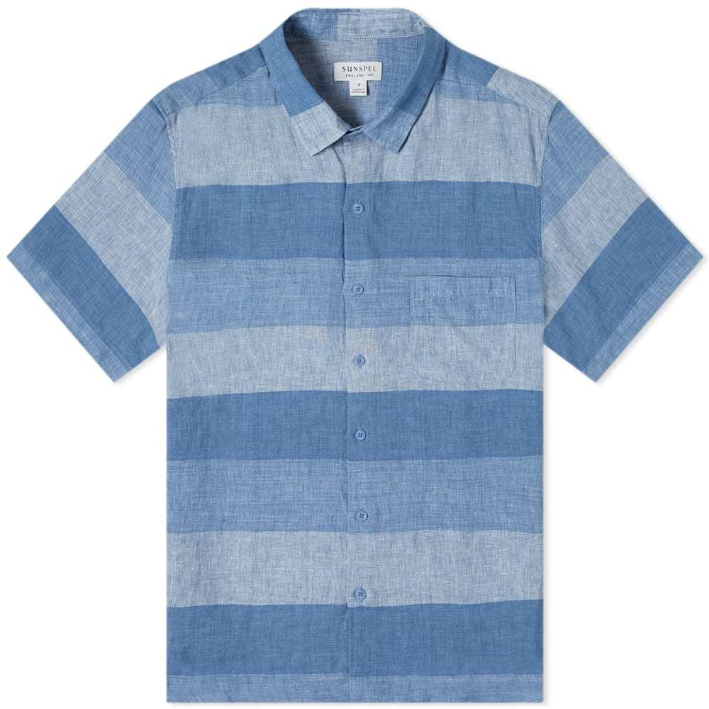 Photo: Sunspel Short Sleeve Striped Shirt