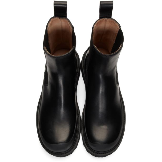Bottega Veneta Black Storm Chelsea Boots