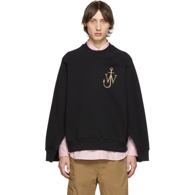 Photo: JW Anderson Black Oversized Sleeves Placket Sweatshirt