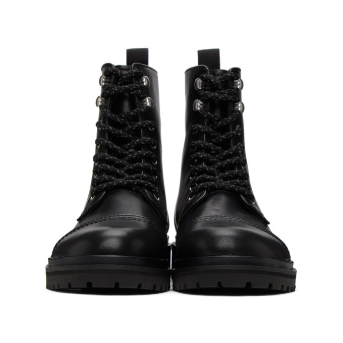 Versace Jeans Couture Black Lace-Up Boots
