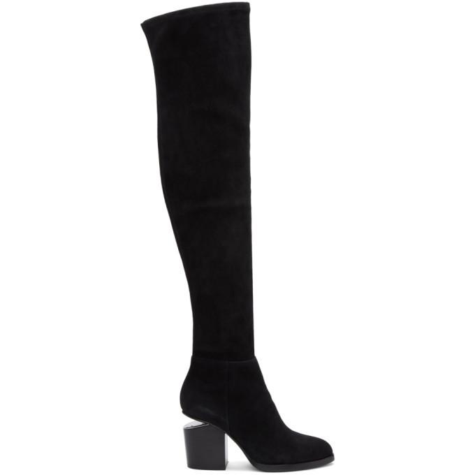 outlet aliexpress 100% high quality Alexander Wang Black Suede Gabi Over-the-Knee Boots Alexander Wang