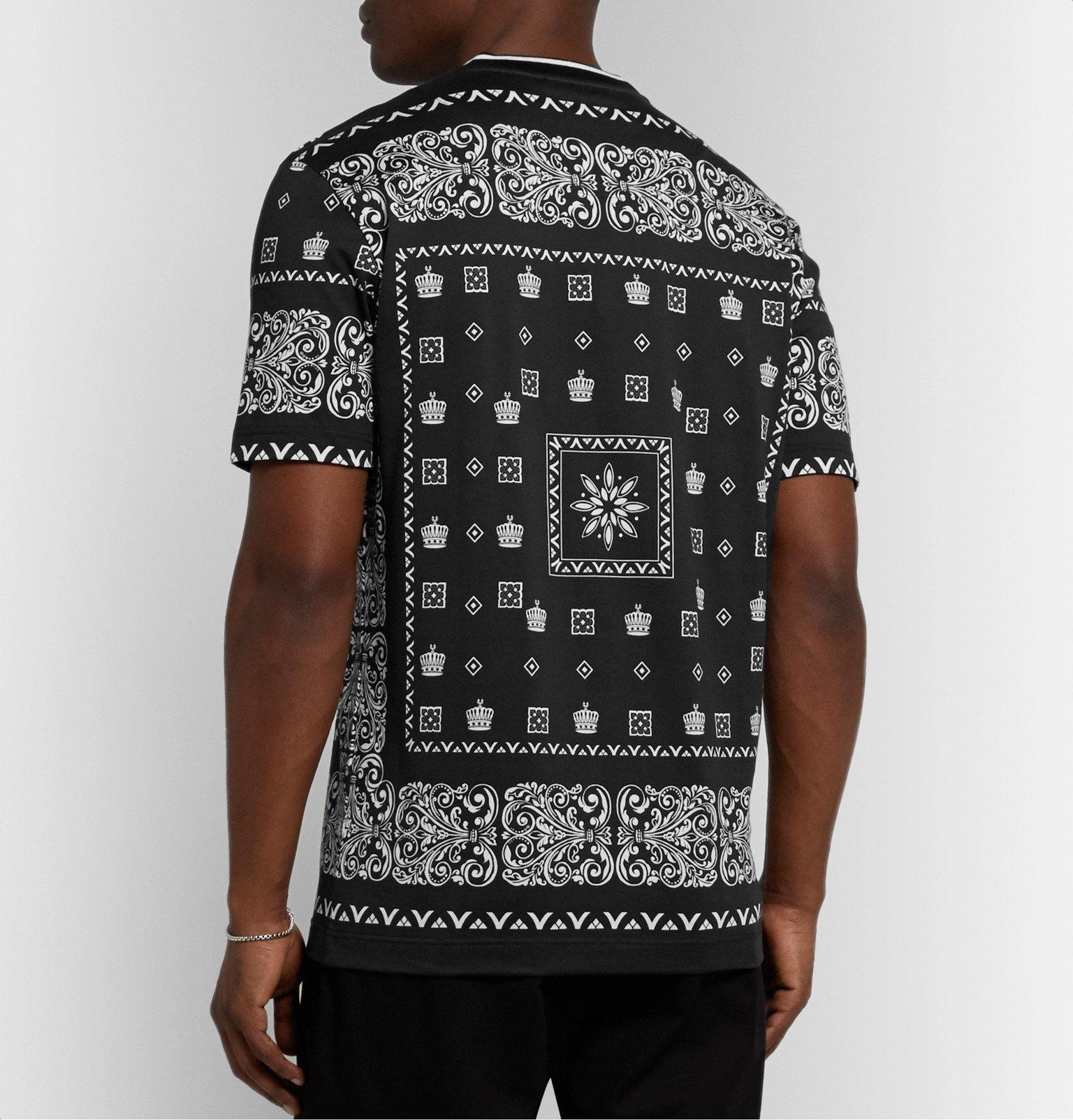 Dolce & Gabbana - Slim-Fit Printed Cotton-Jersey T-Shirt - Black