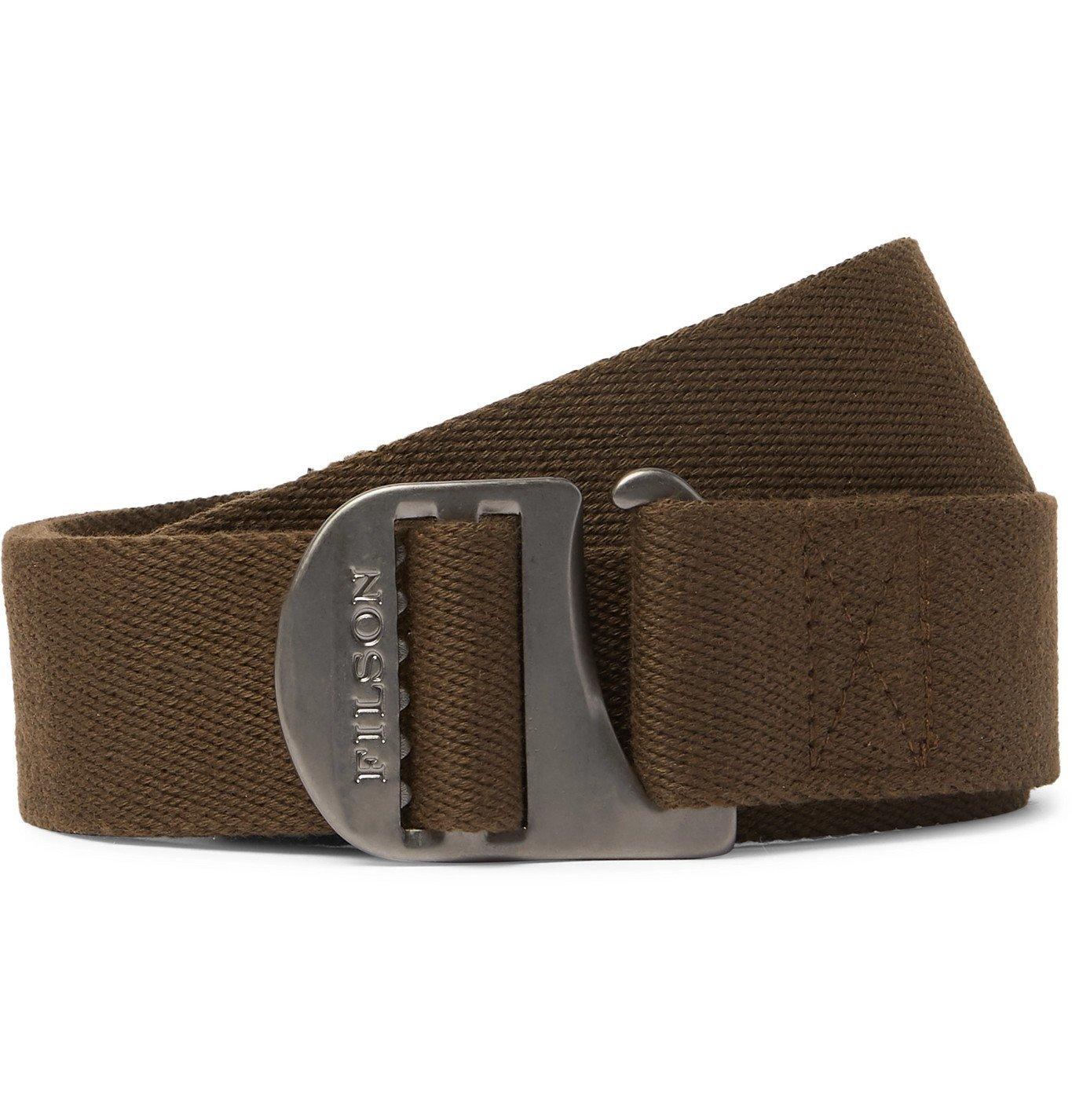 Filson - Togiak 4cm Leather-Trimmed Webbing Belt - Metallic