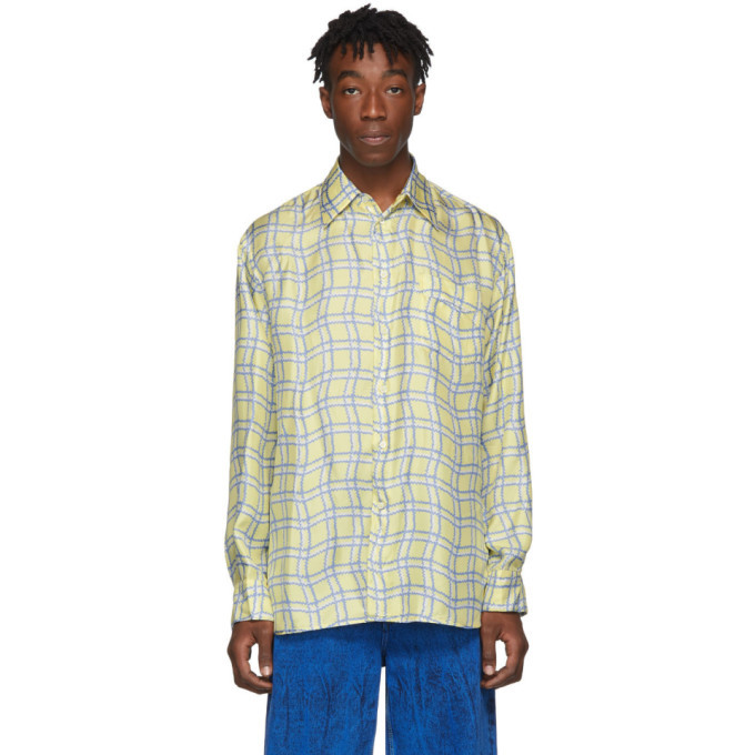Photo: Marni Yellow Silk Check Shirt