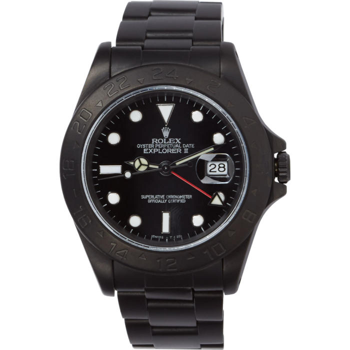 Photo: Black Limited Edition Matte Black Limited Edition Rolex Explorer II Watch