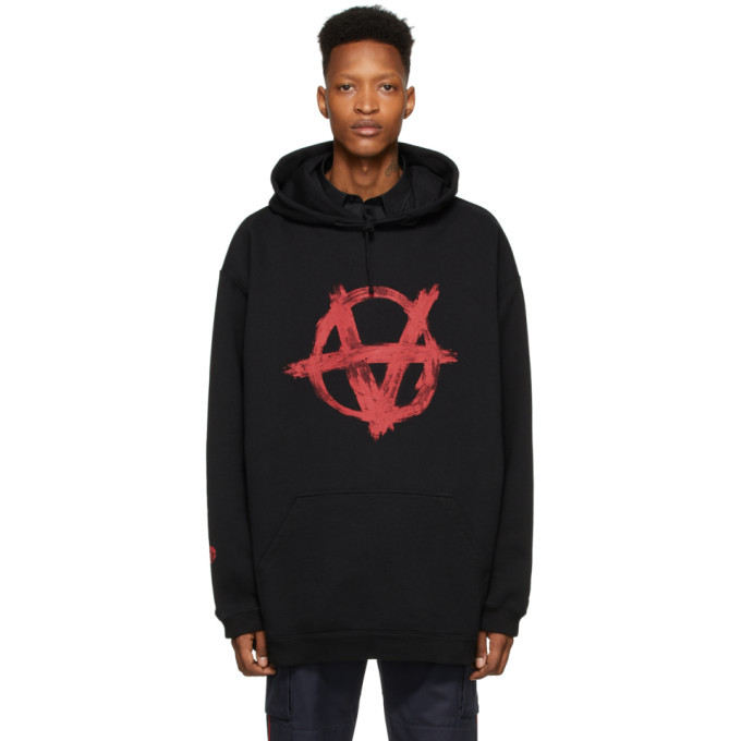 Photo: VETEMENTS Black and Red Anarchy Hoodie