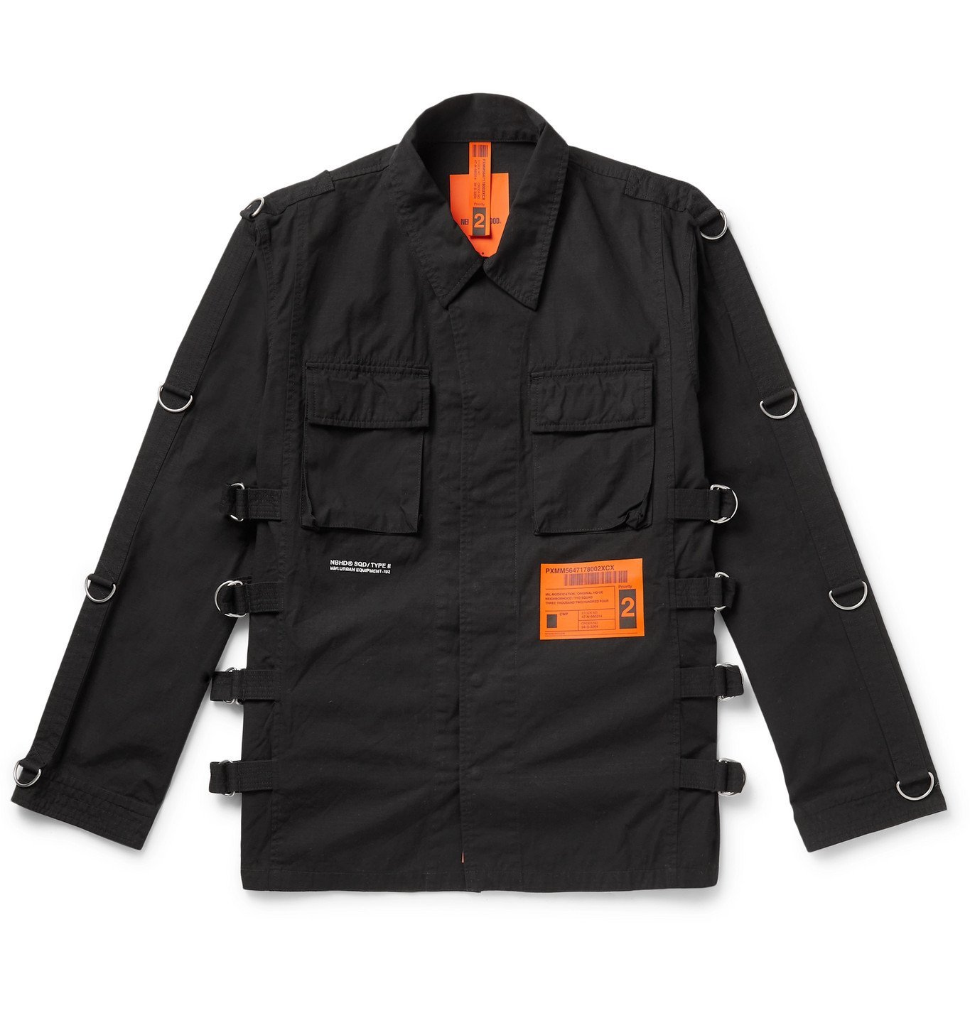 Photo: Neighborhood - Embellished Cotton-Canvas Field Jacket - Black