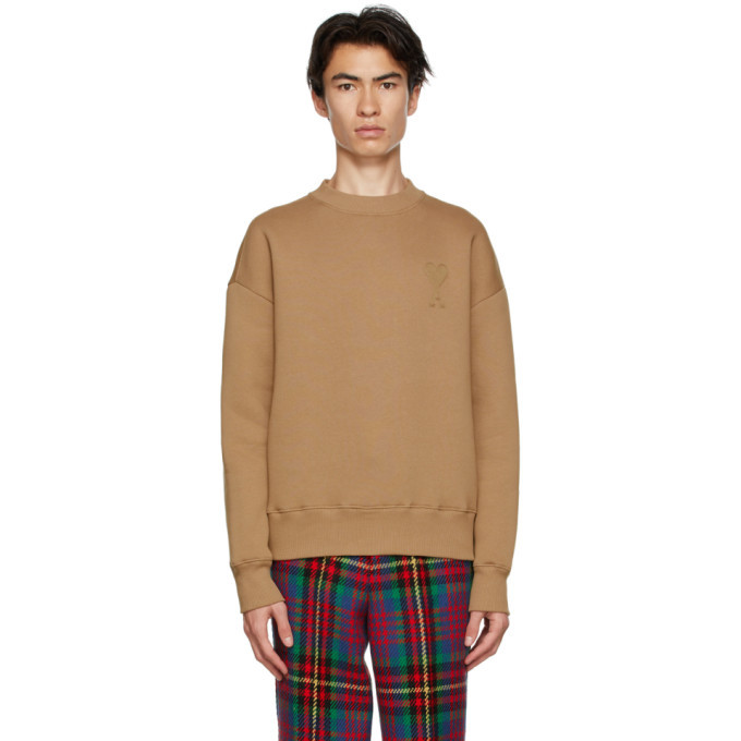 Photo: AMI Alexandre Mattiussi Brown Fleece Ami De Coeur Sweatshirt