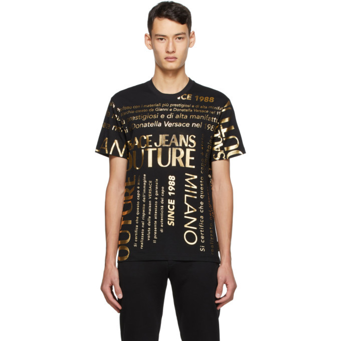 Photo: Versace Jeans Couture Black Allover T-Shirt