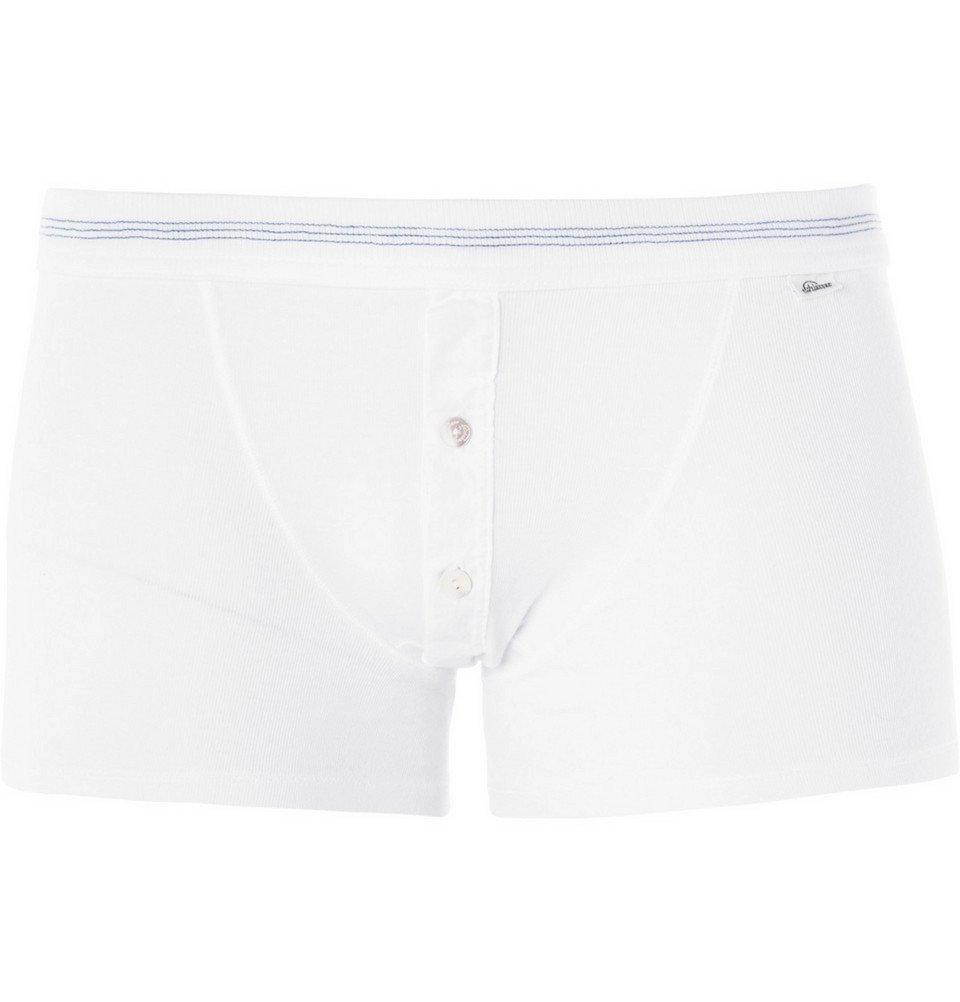 Schiesser - Karl Heinz Cotton-Jersey Boxer Briefs - Men - White