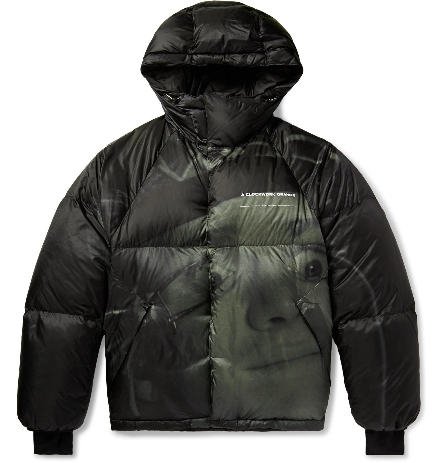 Photo: Undercover - Printed Quilted Shell Hooded Down Jacket - Black