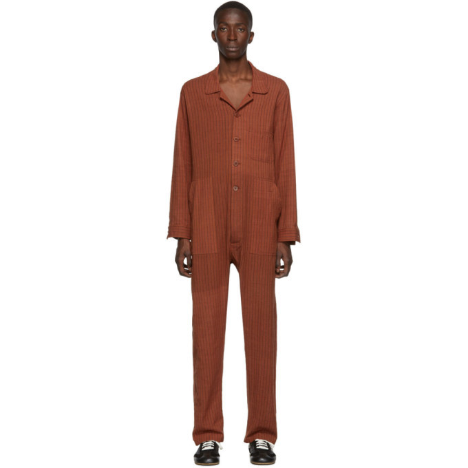 Photo: Bode Red Narrow Stripe Jumpsuit
