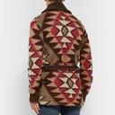 RRL - Shawl-Collar Intarsia Linen-Blend Cardigan - Multi
