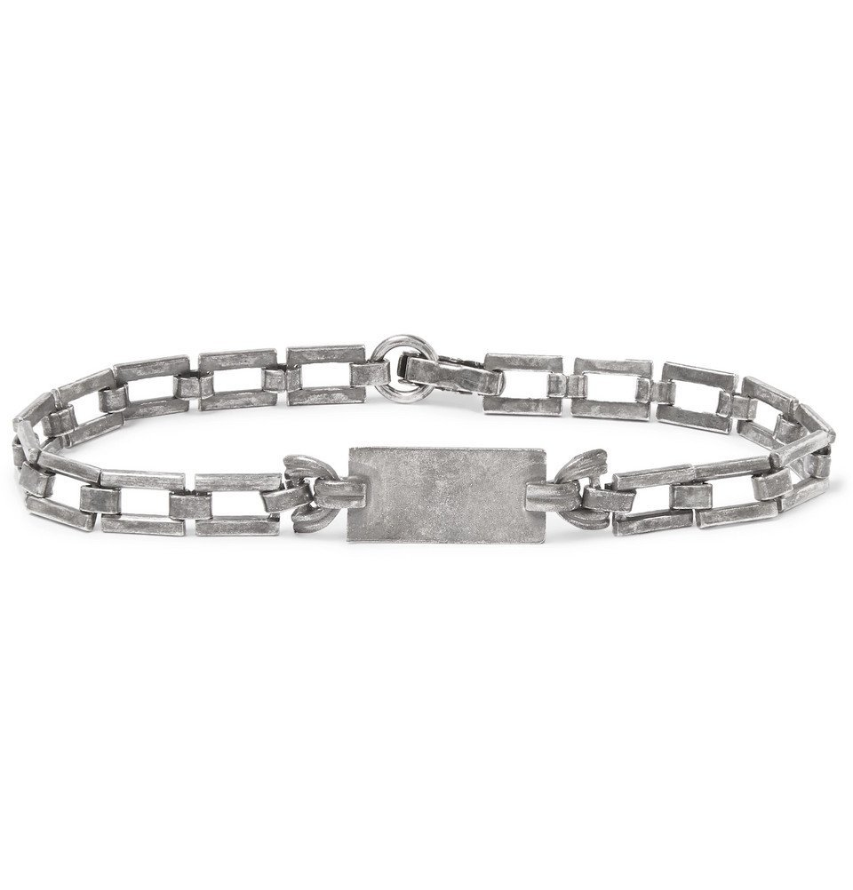 Photo: Saint Laurent - Oxidised Silver-Tone ID Bracelet - Silver