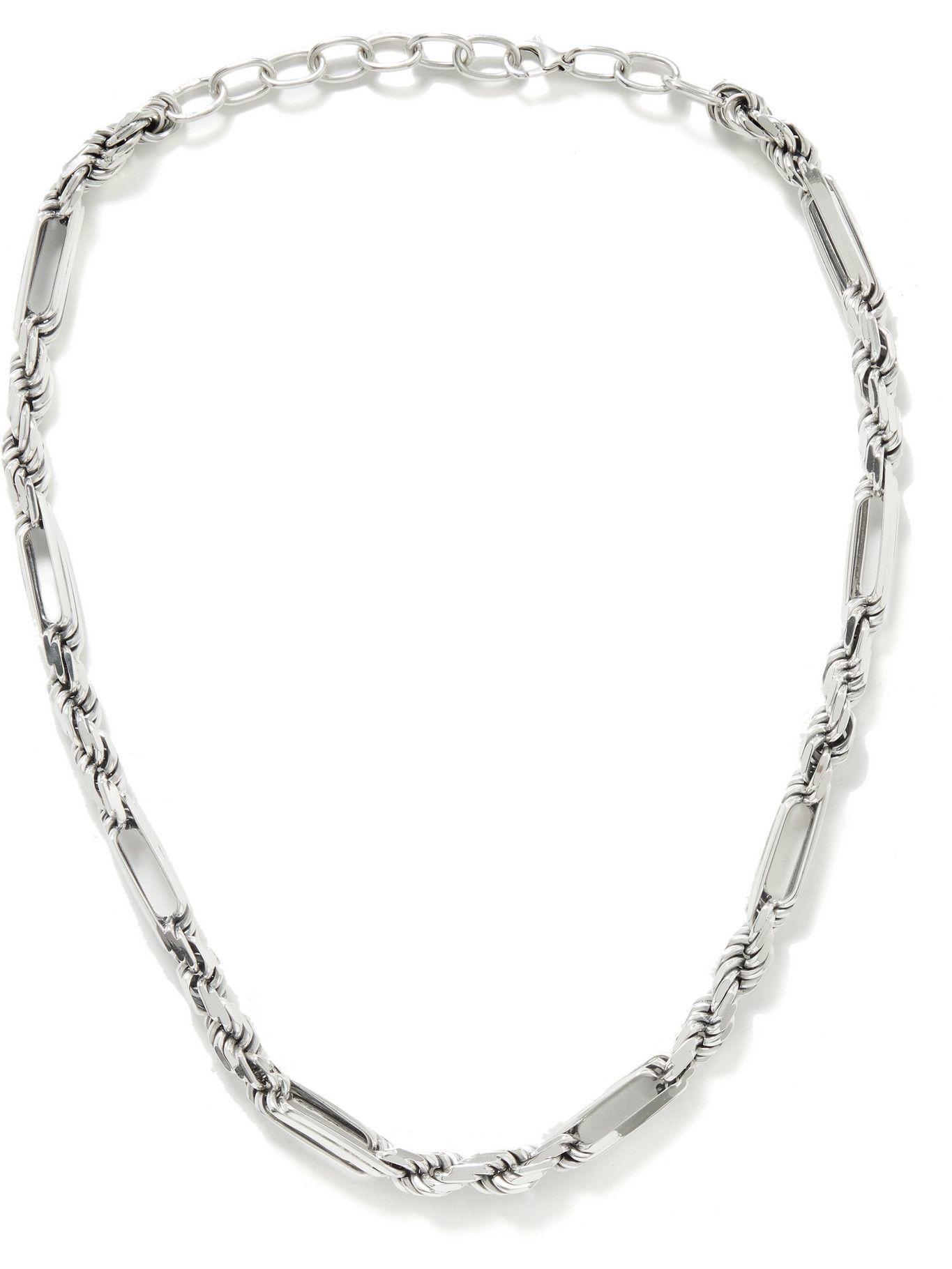Photo: Bottega Veneta - Sterling Silver Necklace