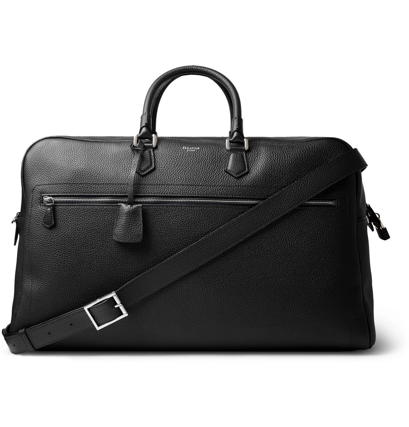 Photo: Serapian - Full-Grain Leather Holdall - Blue