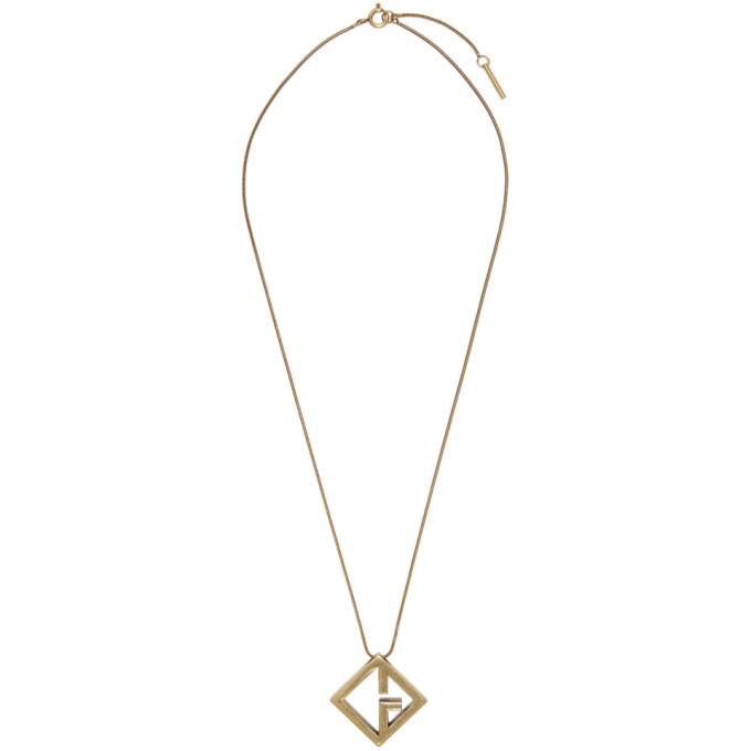 Photo: Givenchy Gold Geometric G Pendant Necklace