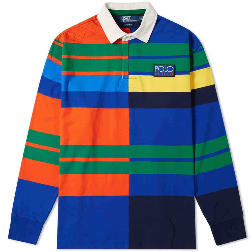 Photo: Polo Ralph Lauren Long Sleeve High-Tech Multi Stripe Rugby Shirt